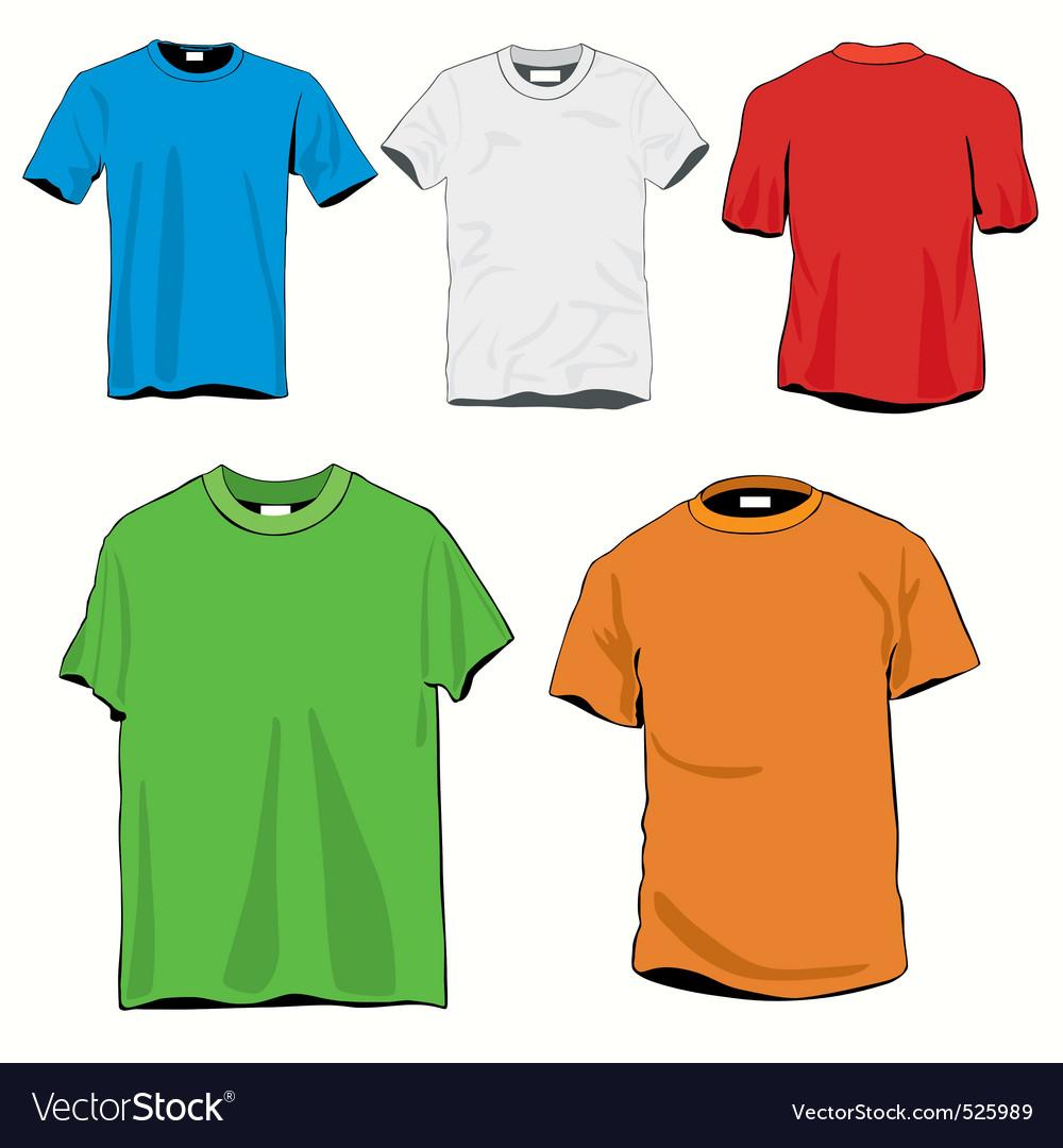 Blanc tshirts set vector image