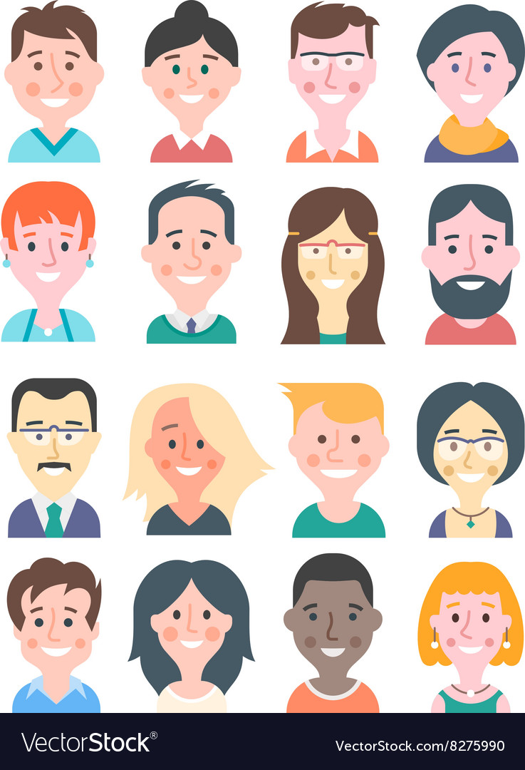 Cartoon People Avatars vector image