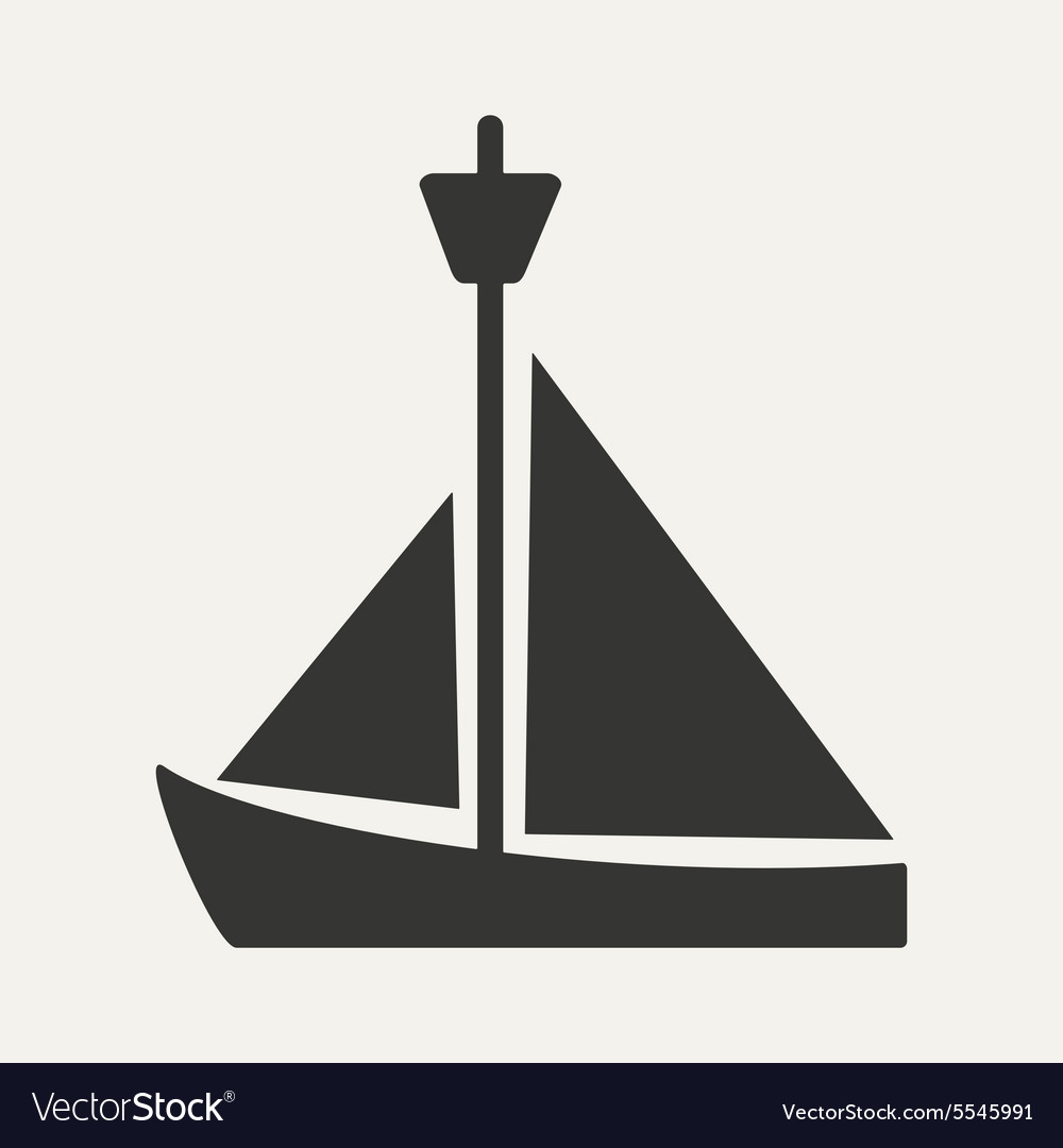 Flat in black and white mobile application yacht
