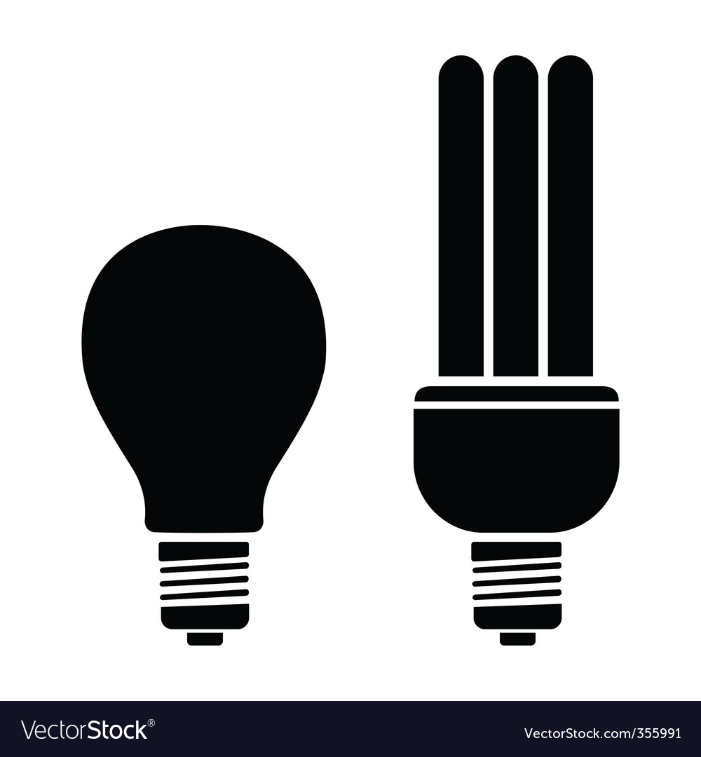 Bulb and CFL vector image