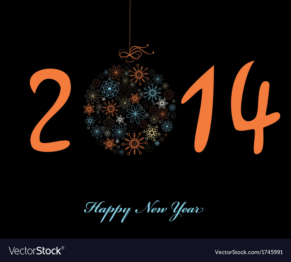 New year greeting card 2014 vector image on vectorstock new year greeting card 2014 vector image m4hsunfo