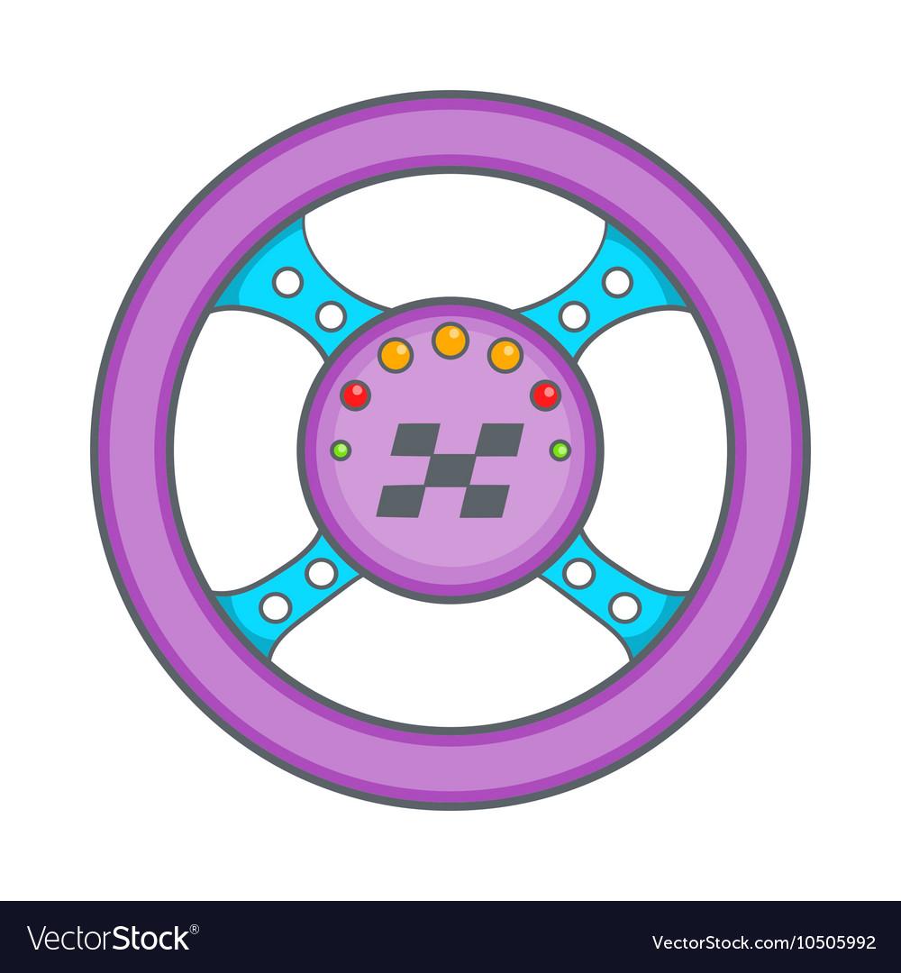 Racing rudder icon cartoon style vector image