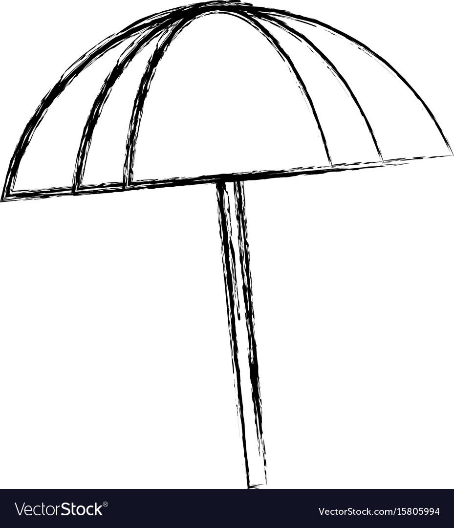 Beach umbrella isolated vector image