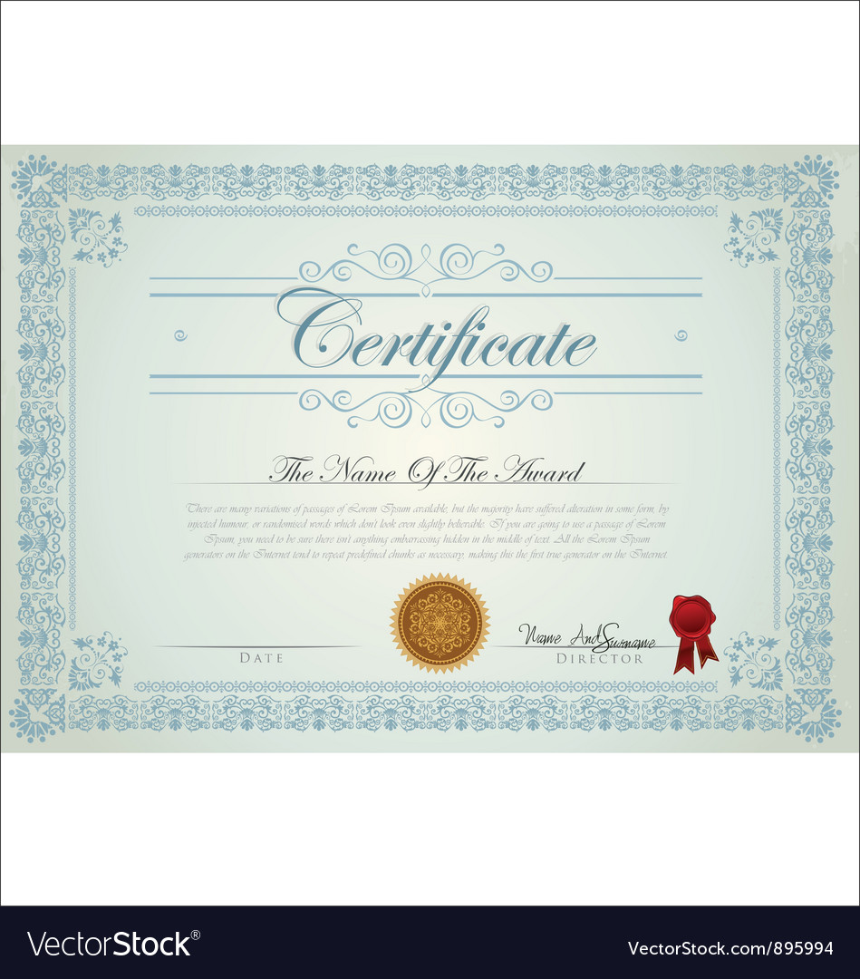 Certificate template royalty free vector image certificate template vector image yelopaper Image collections
