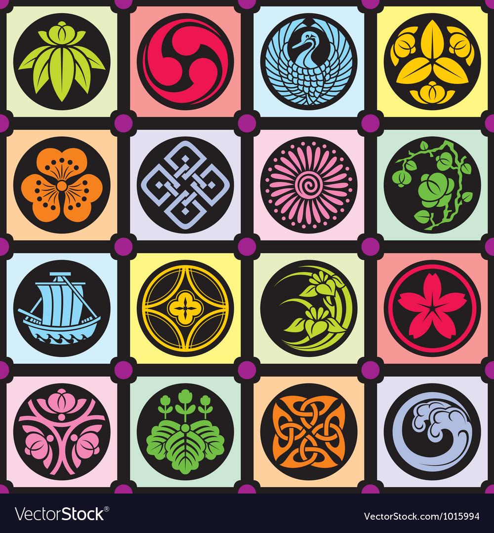 Japan design elements vector image