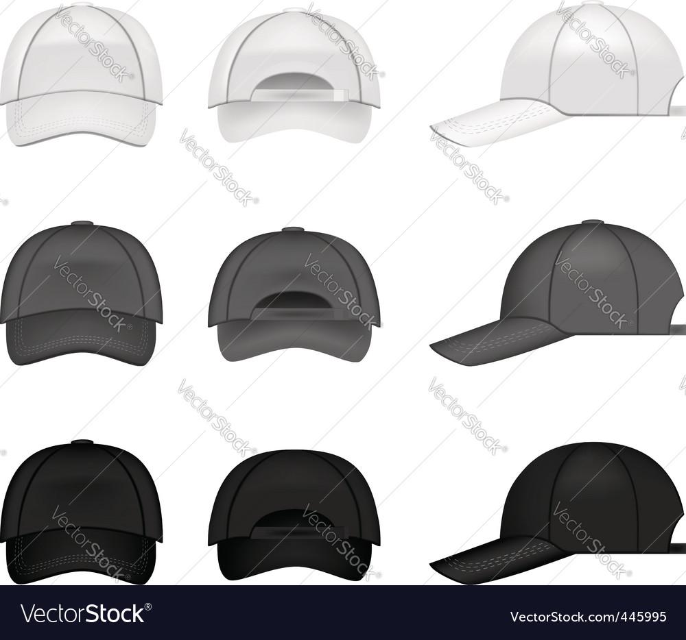 Baseball cap collection vector image