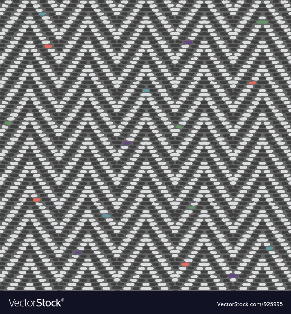 Herringbone Tweed pattern in greys repeats Vector Image