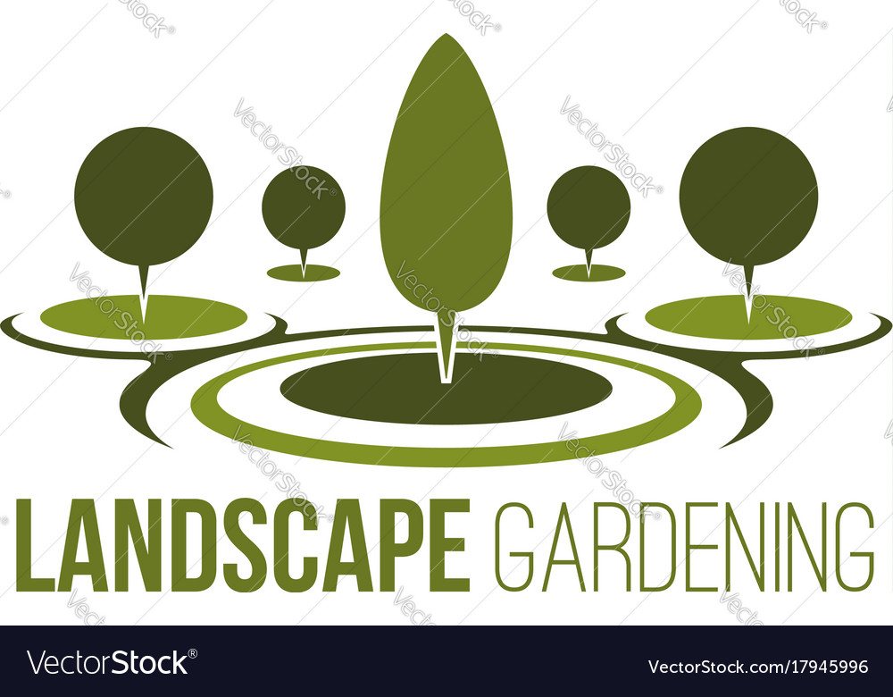 Gardening tree horticulture forest icon vector image