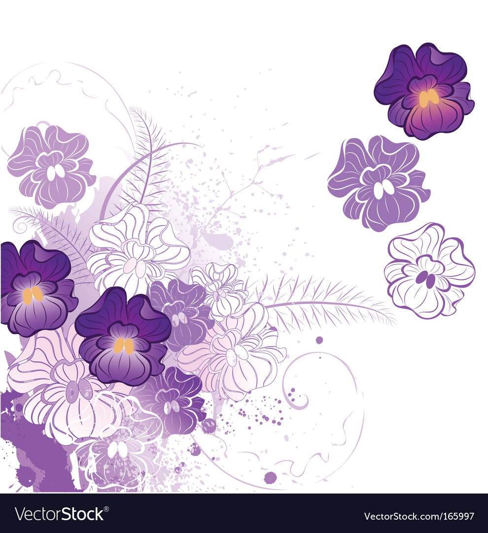 Stylized violet vector image