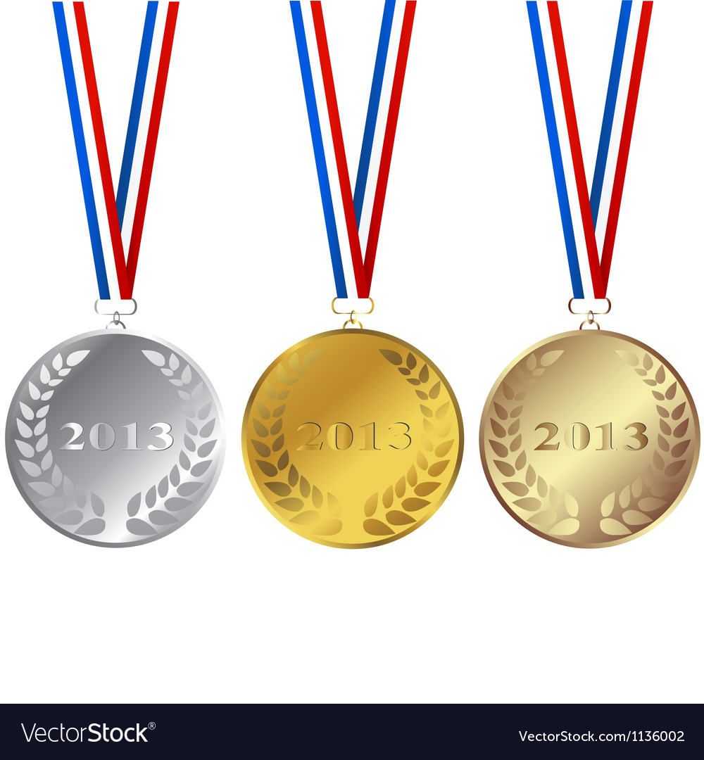 Set of 2013 medals vector image