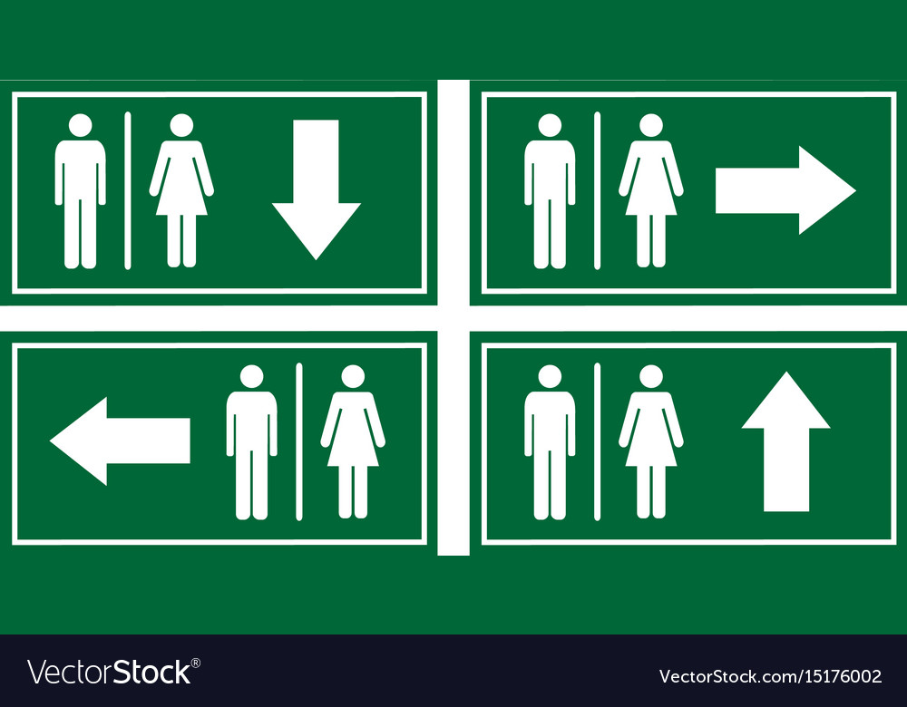 Toilet signage set vector image