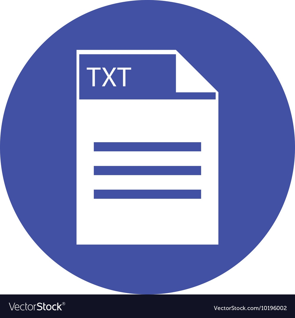 TXT file icon vector image