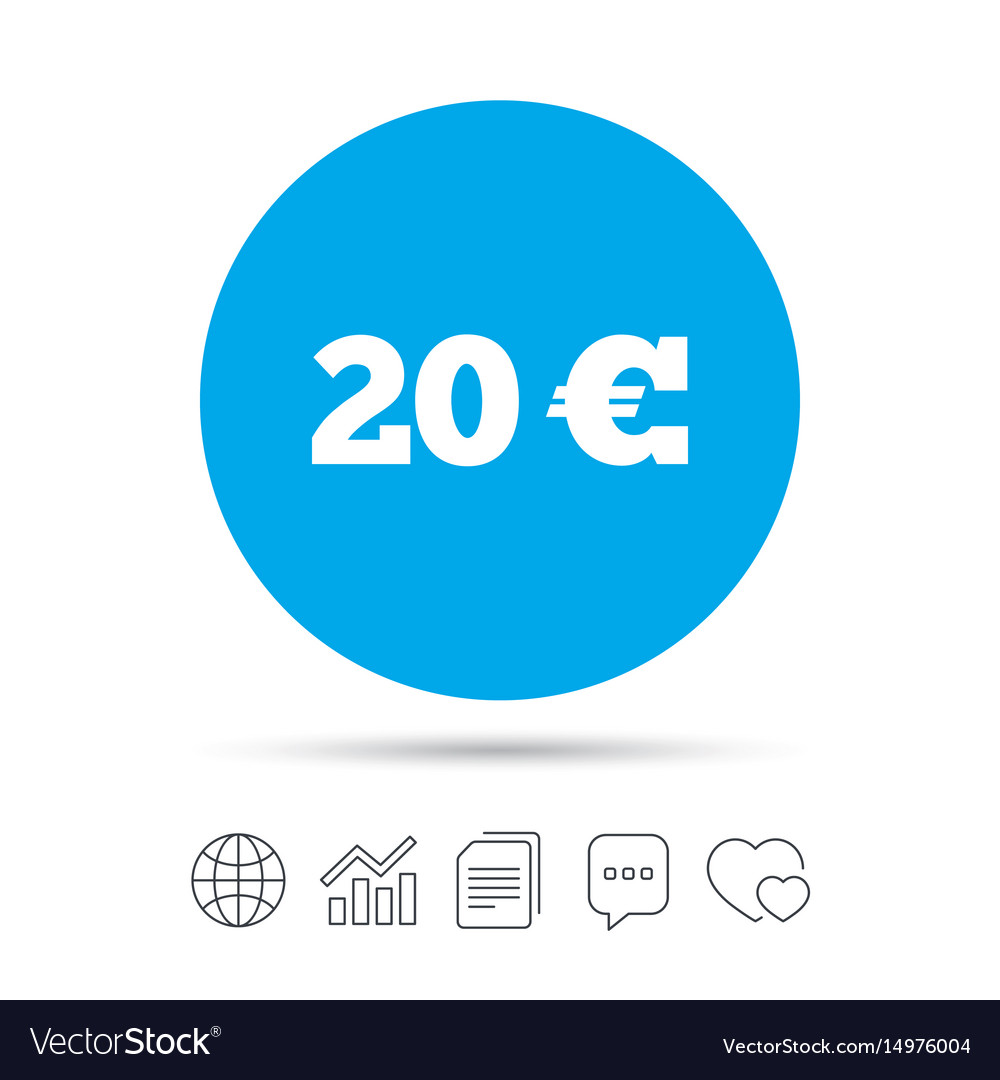 20 euro sign icon eur currency symbol royalty free vector 20 euro sign icon eur currency symbol vector image biocorpaavc