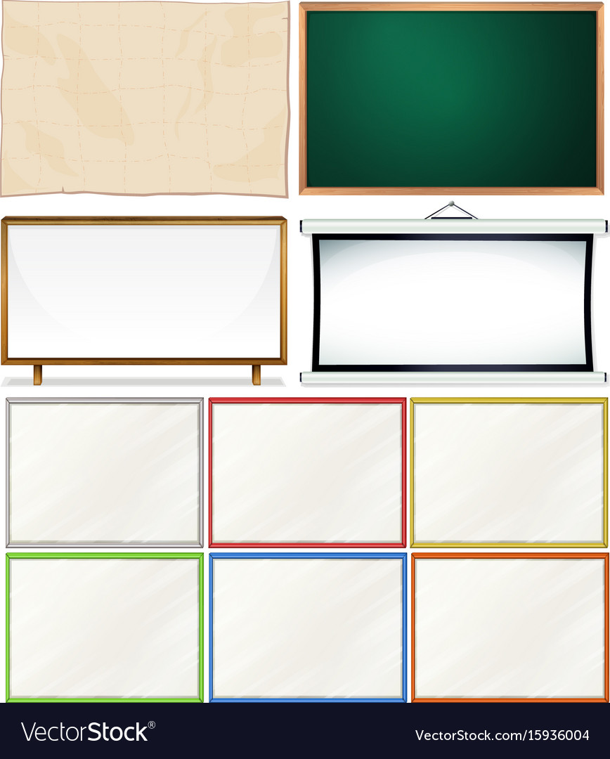 Different designs of wooden frames Royalty Free Vector Image