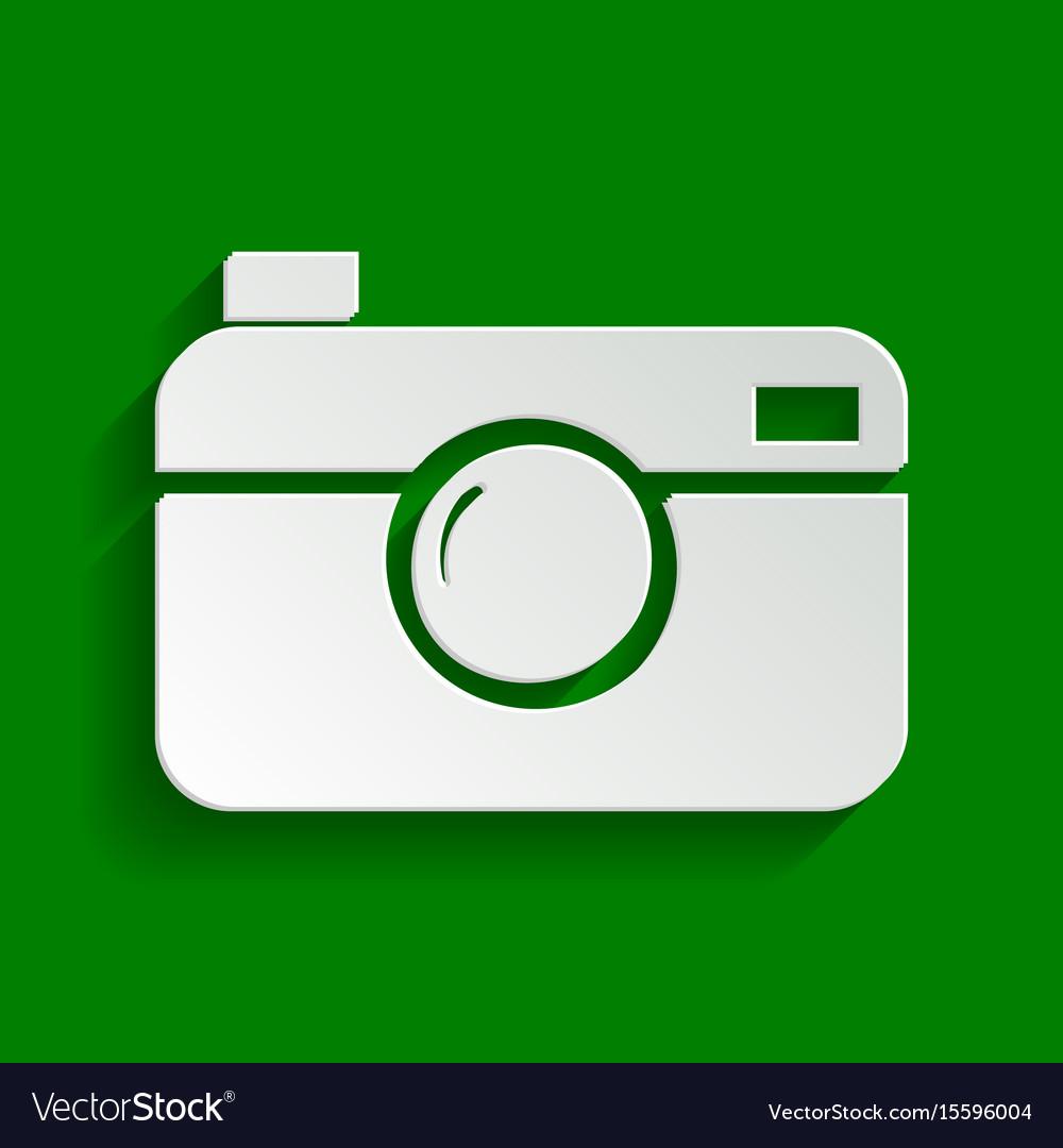 Digital photo camera sign paper whitish vector image