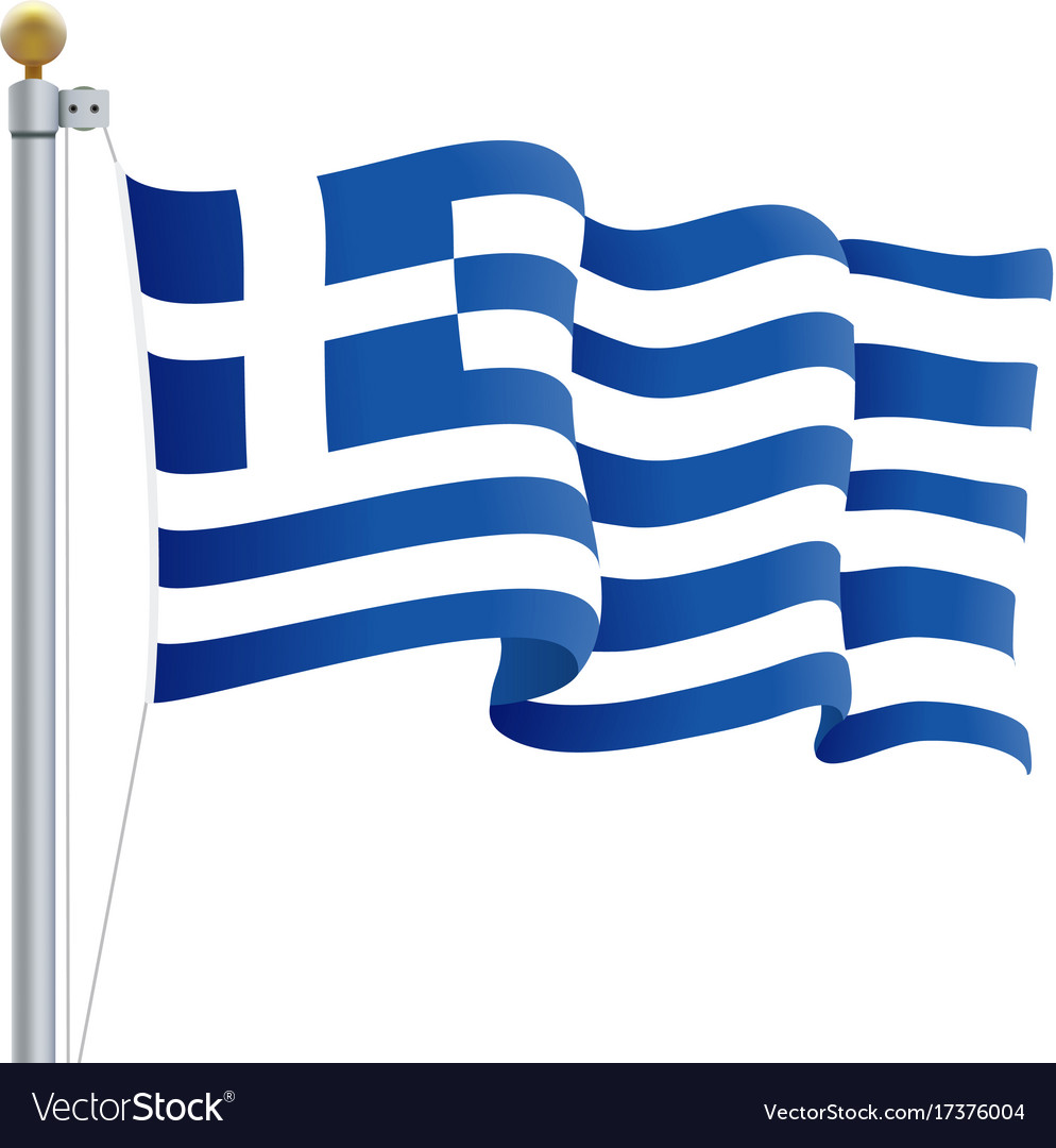 Waving greece flag isolated on a white background vector image biocorpaavc Image collections