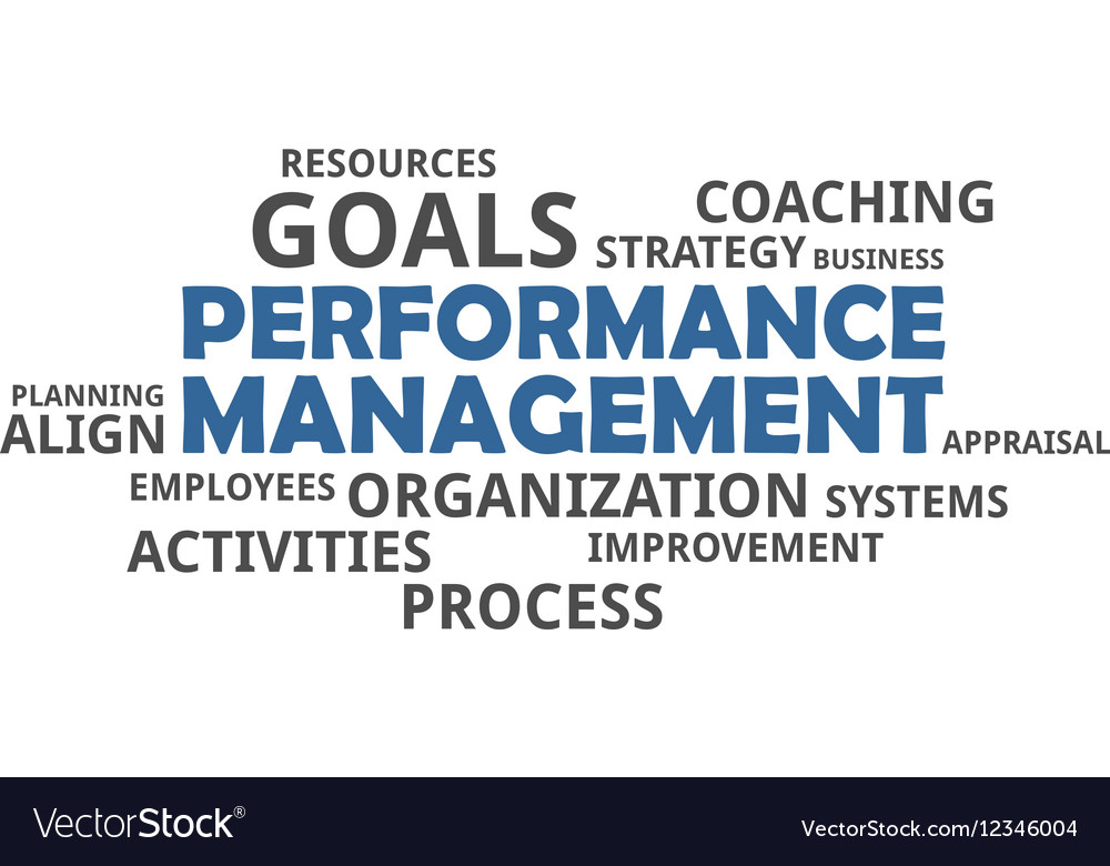 Word cloud performance management vector image