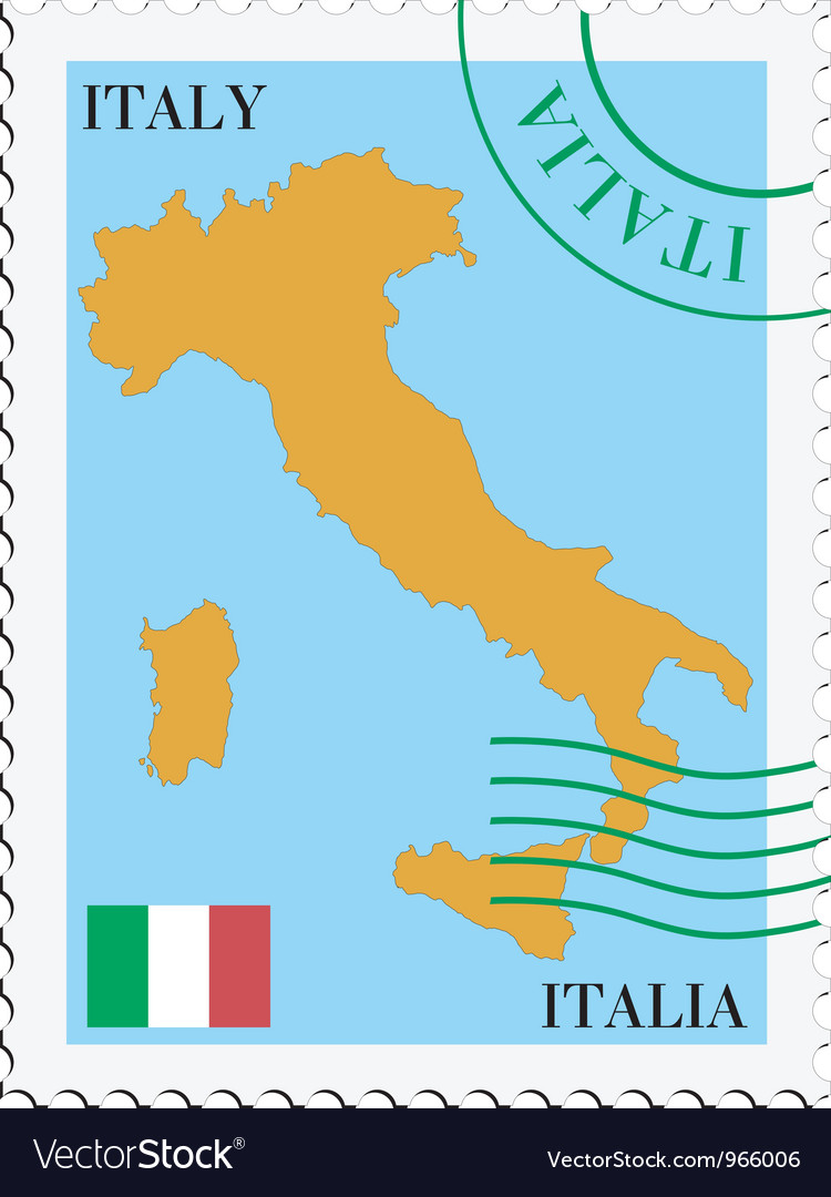 Mail to-from Italy vector image