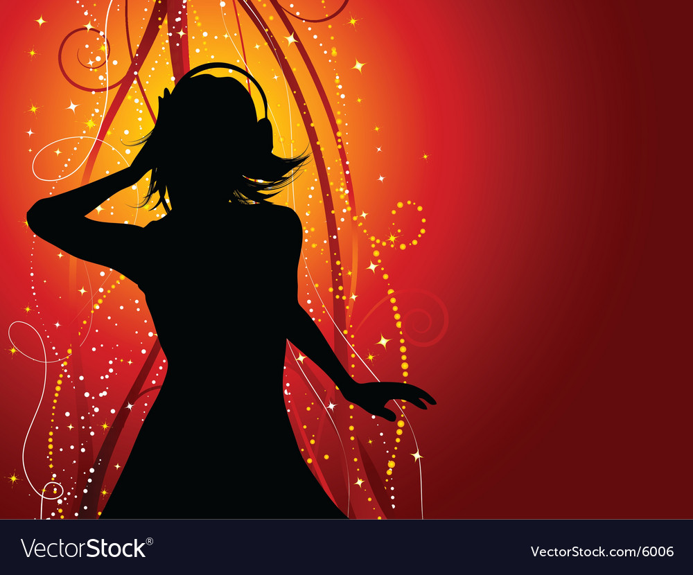 Music female vector image