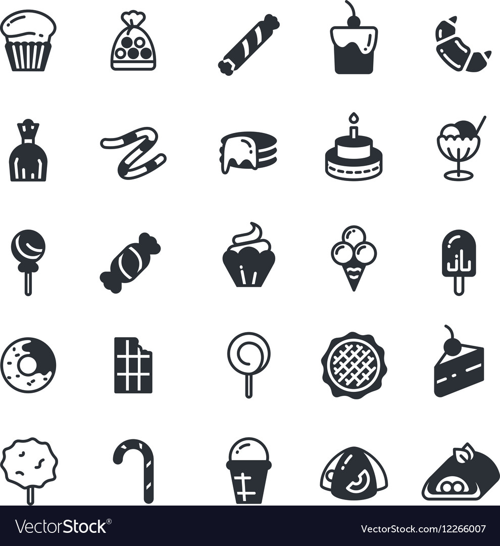 Dessert pie cupcake cookie biscuit muffin vector image