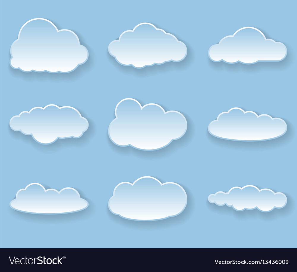 Louds vector image