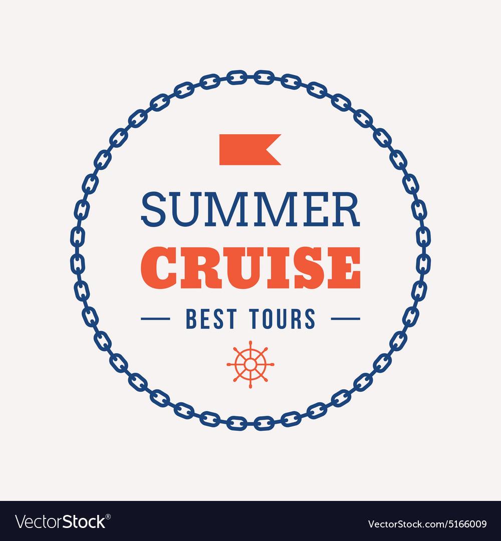 Retro Summer Holidays Vintage Label Design vector image