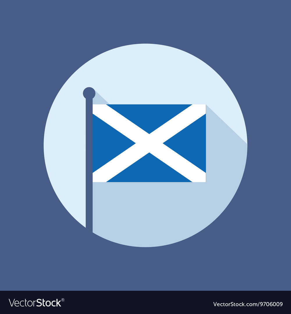 scotland flag flat icon royalty free vector image