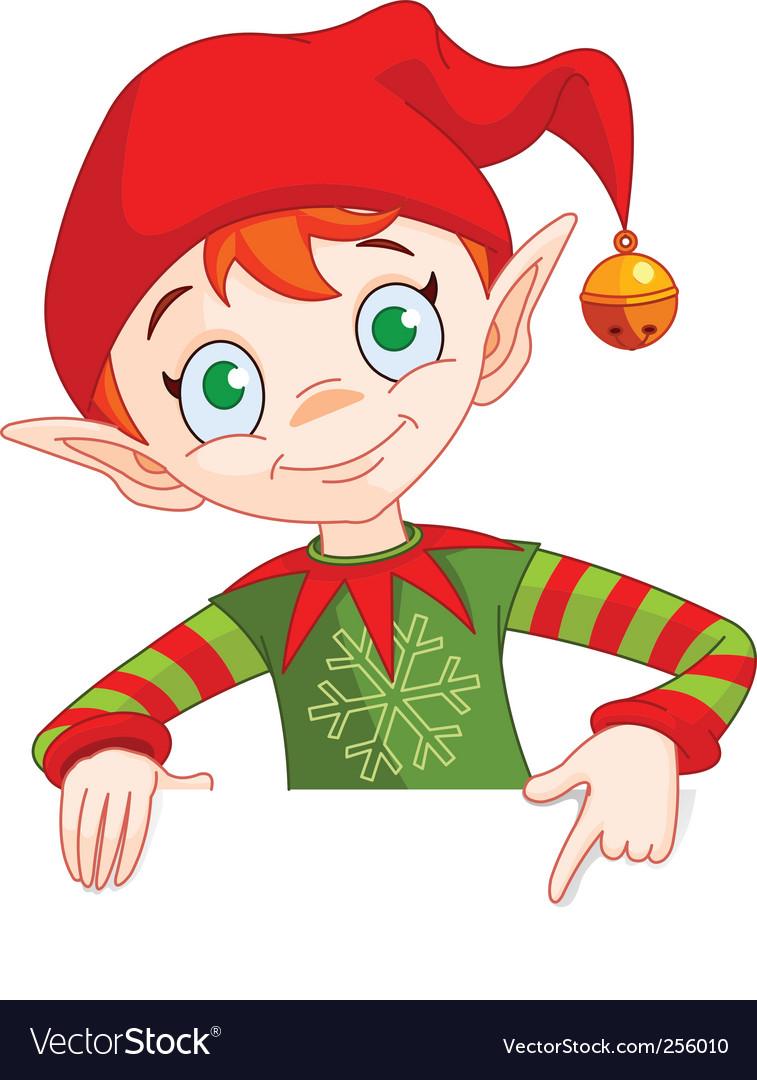 christmas elf royalty free vector image vectorstock