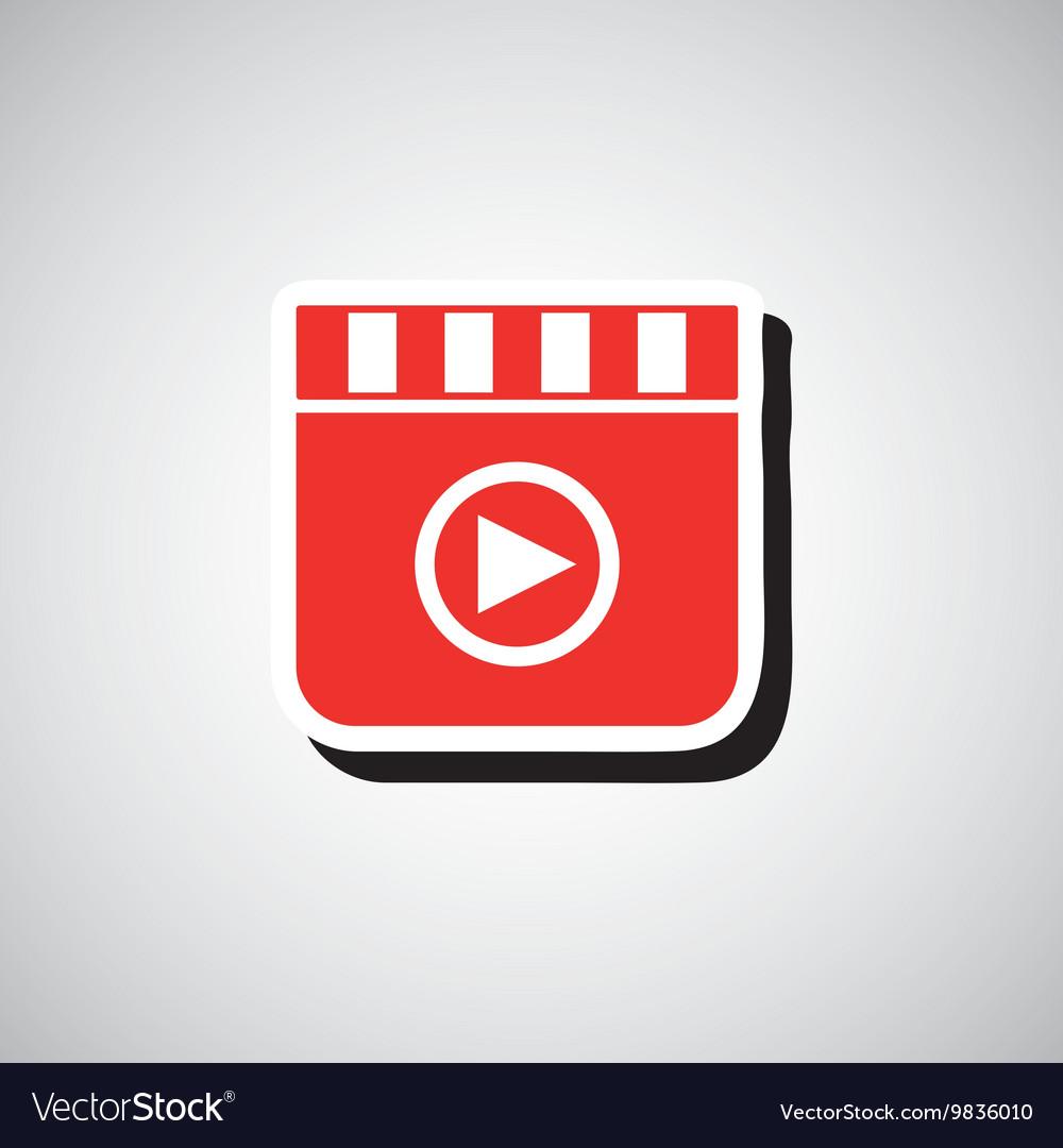 Cinema film roll vector image