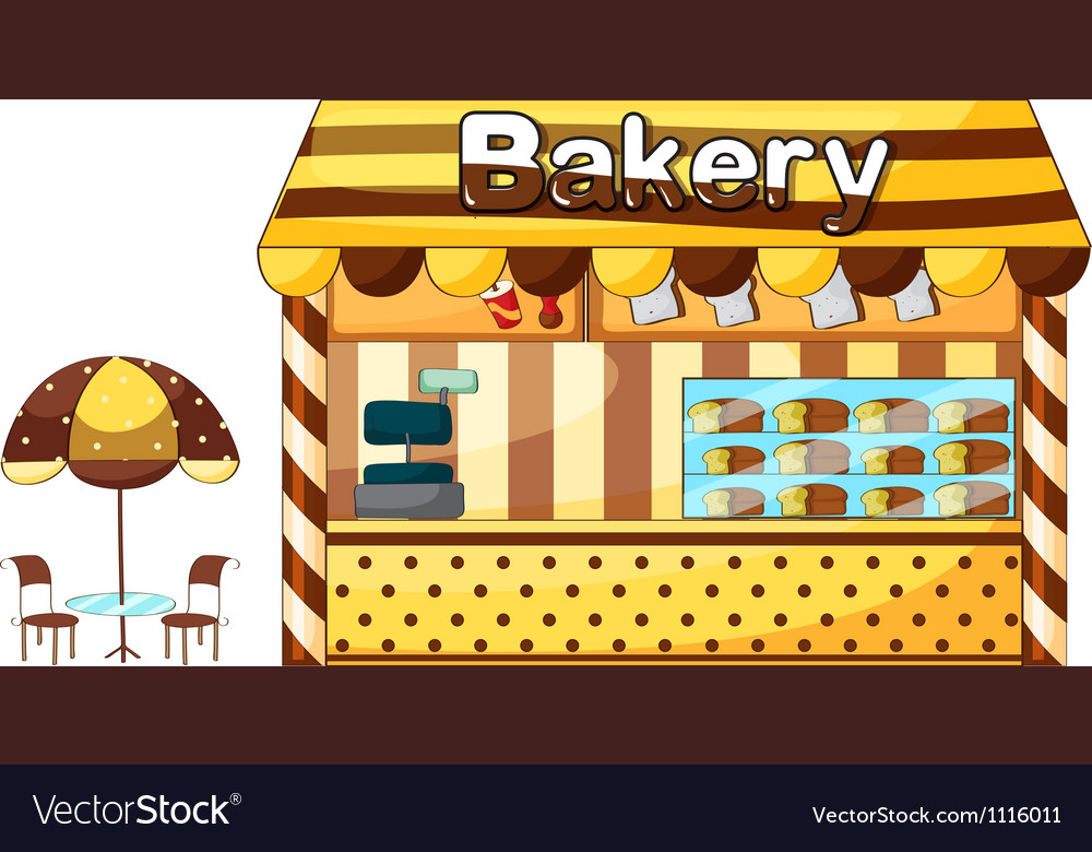 A bakery shop Vector Image