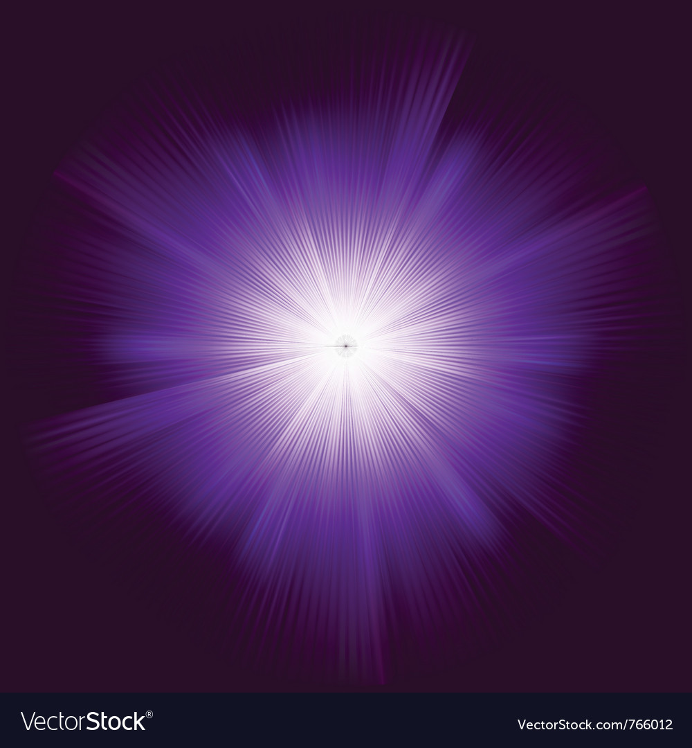 Lens flare background vector image