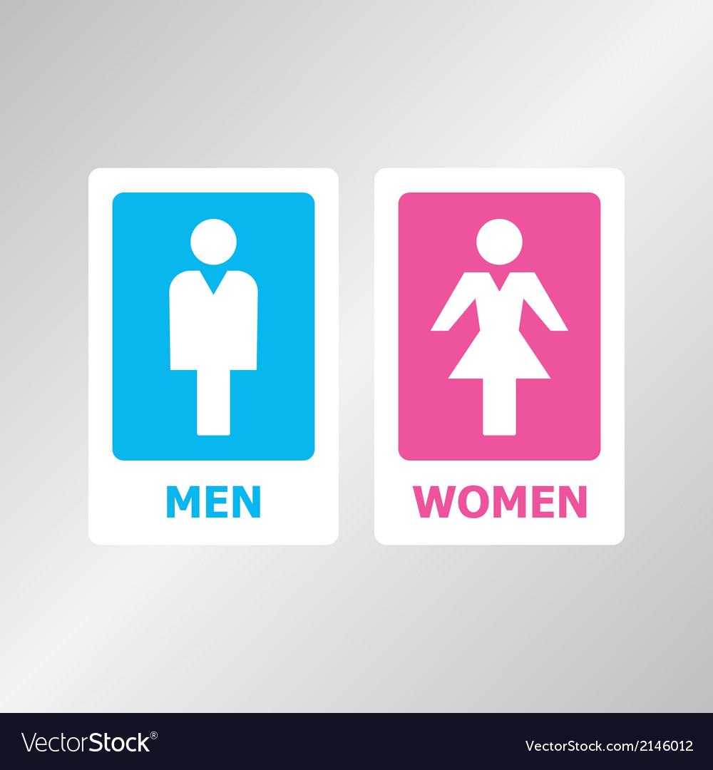 Restroom SIgn vector image