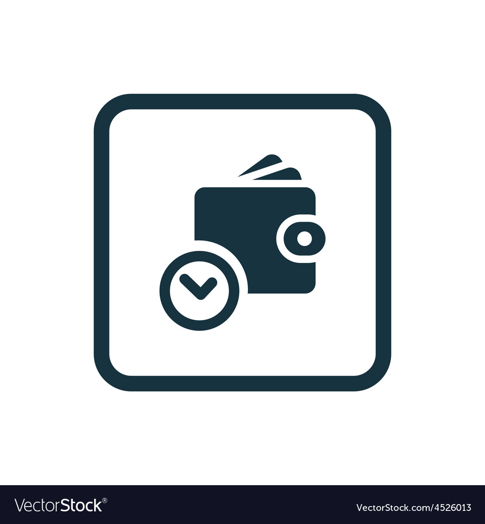 Time is money wallet with watch icon Rounded vector image