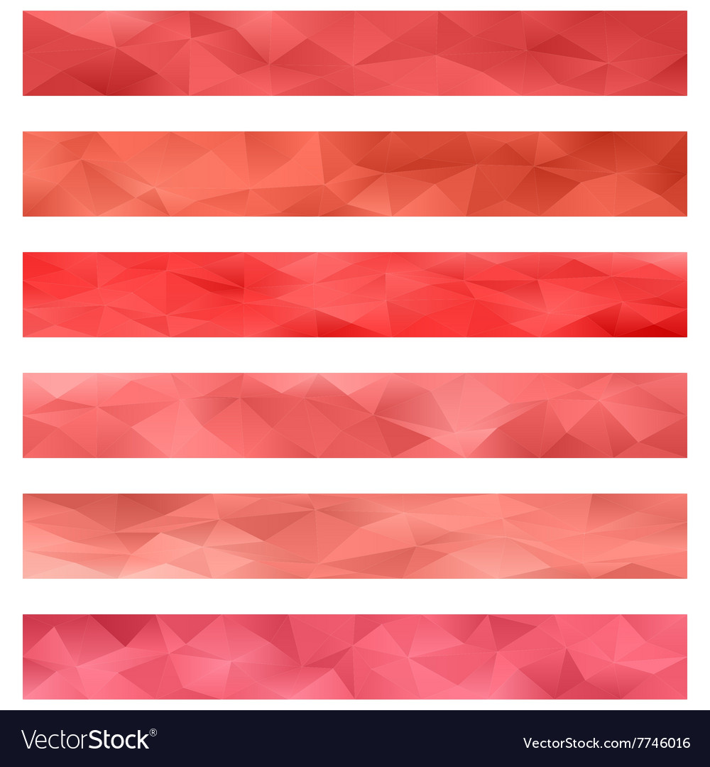 Red banner background set vector image
