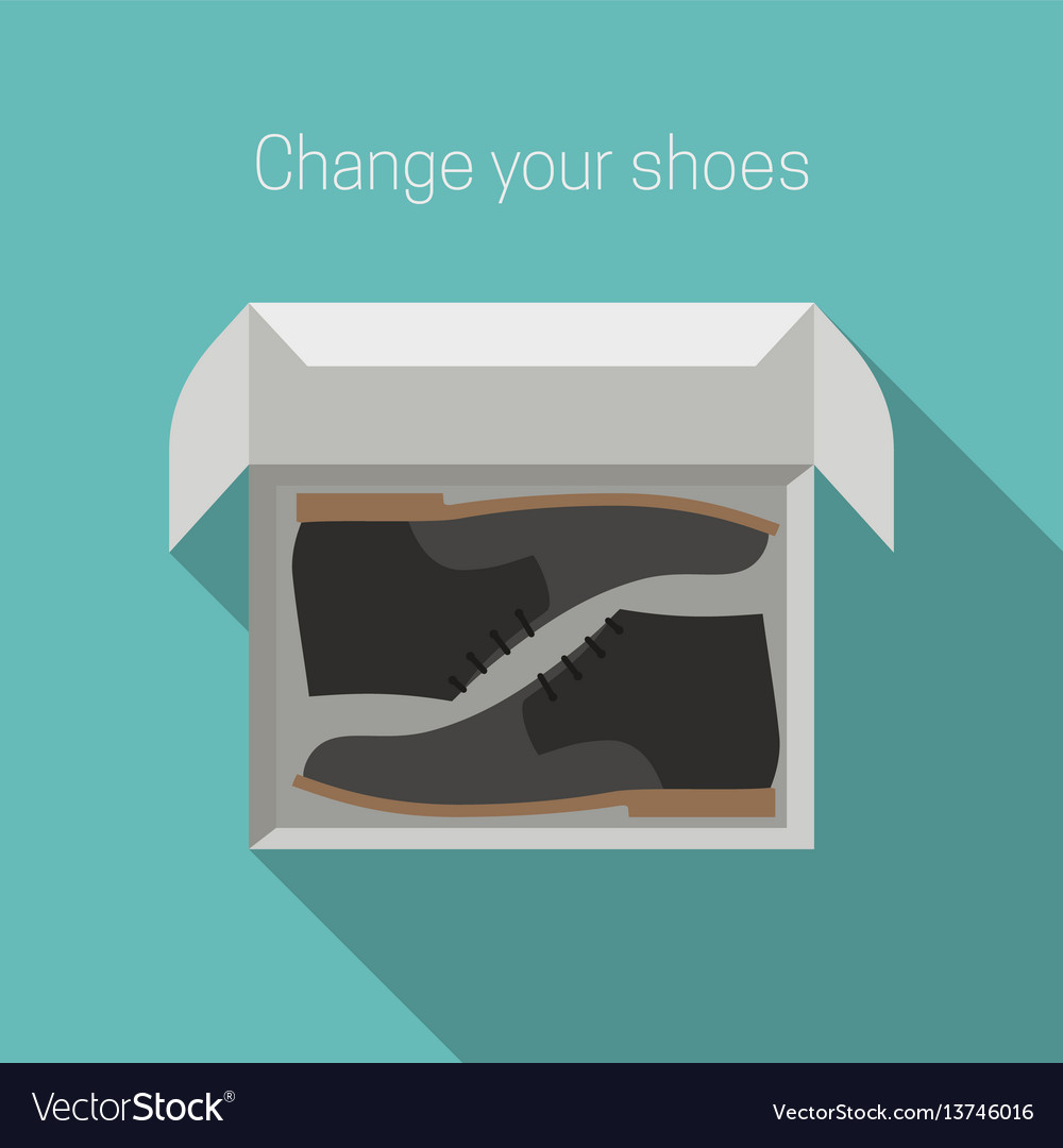 Shoes in box vector image