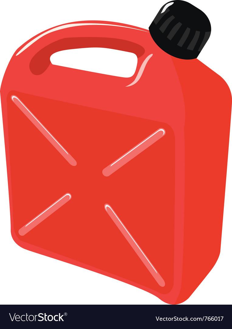 Jerrican plastique essence 5 L avec bec verseur