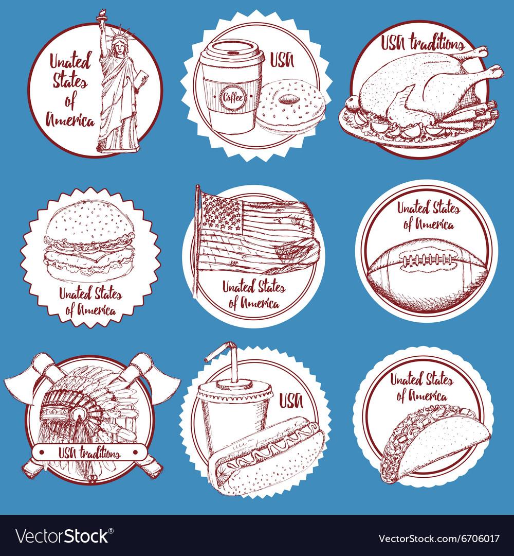 Sketch wine barrel in vintage style vector image