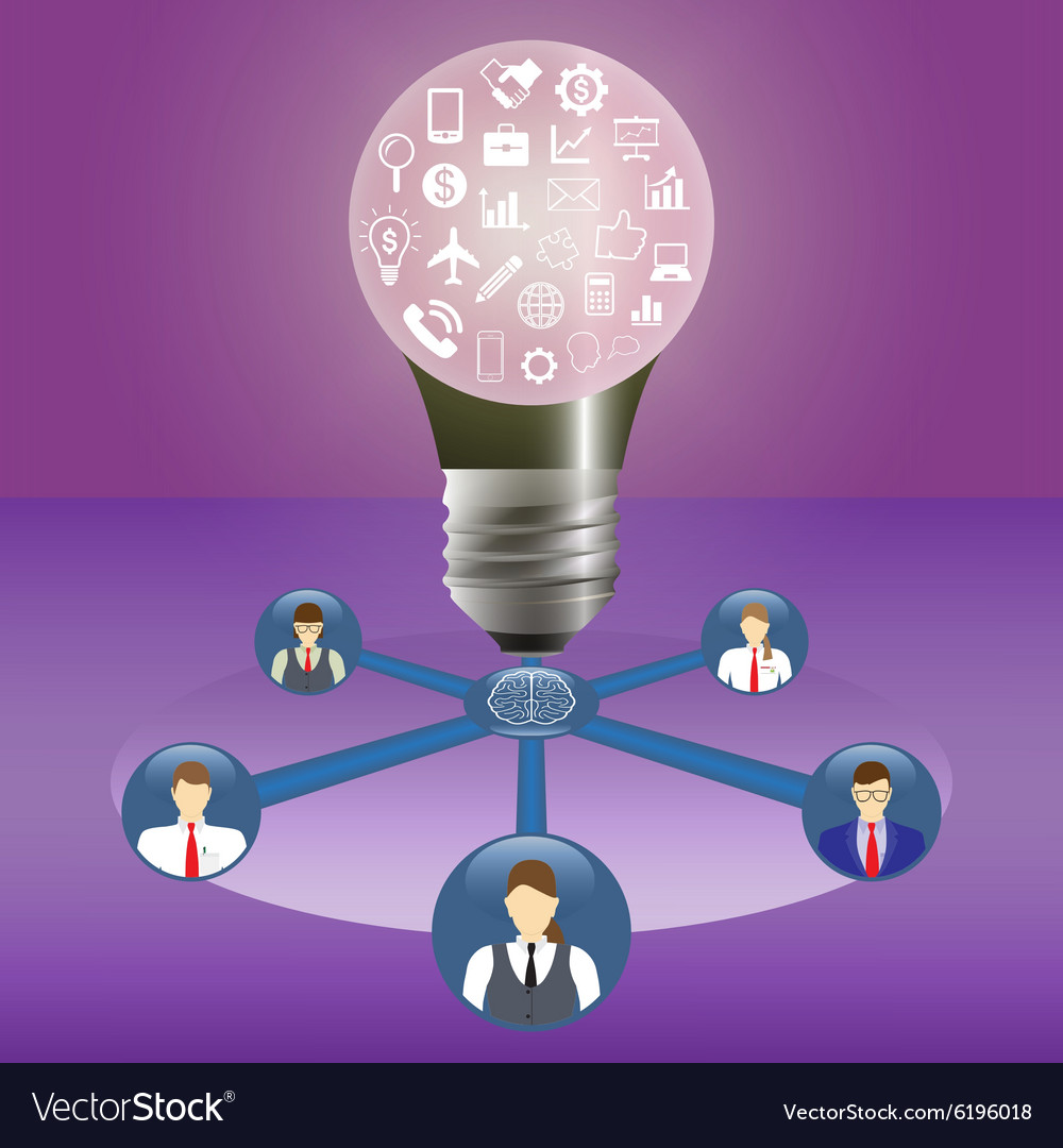 Business idea and teamwork concept Innovation and vector image
