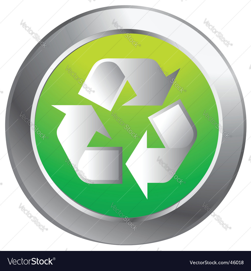 Recycle button vector image