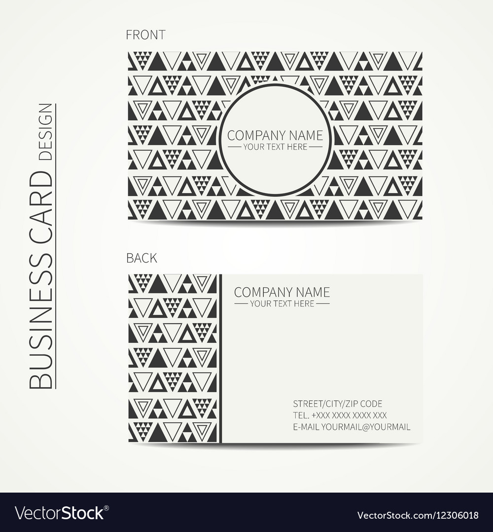 Simple business card design Delta trigon Vector Image