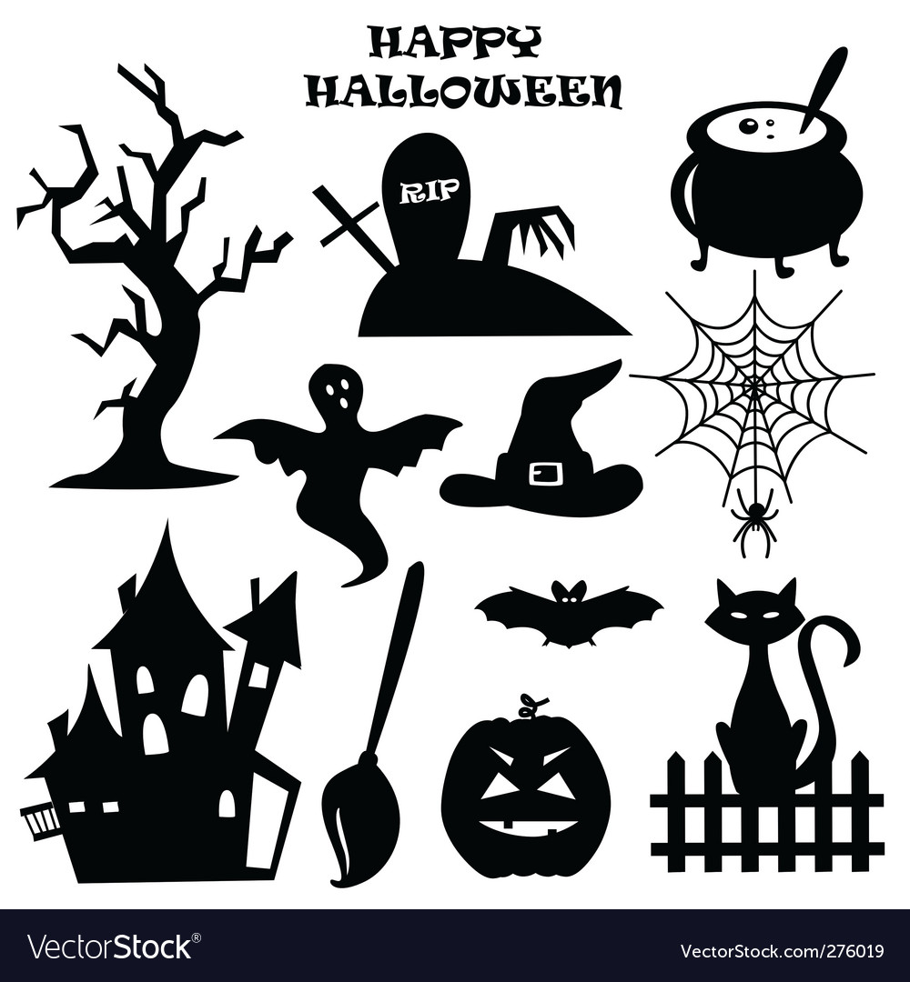 Halloween icons Royalty Free Vector Image - VectorStock
