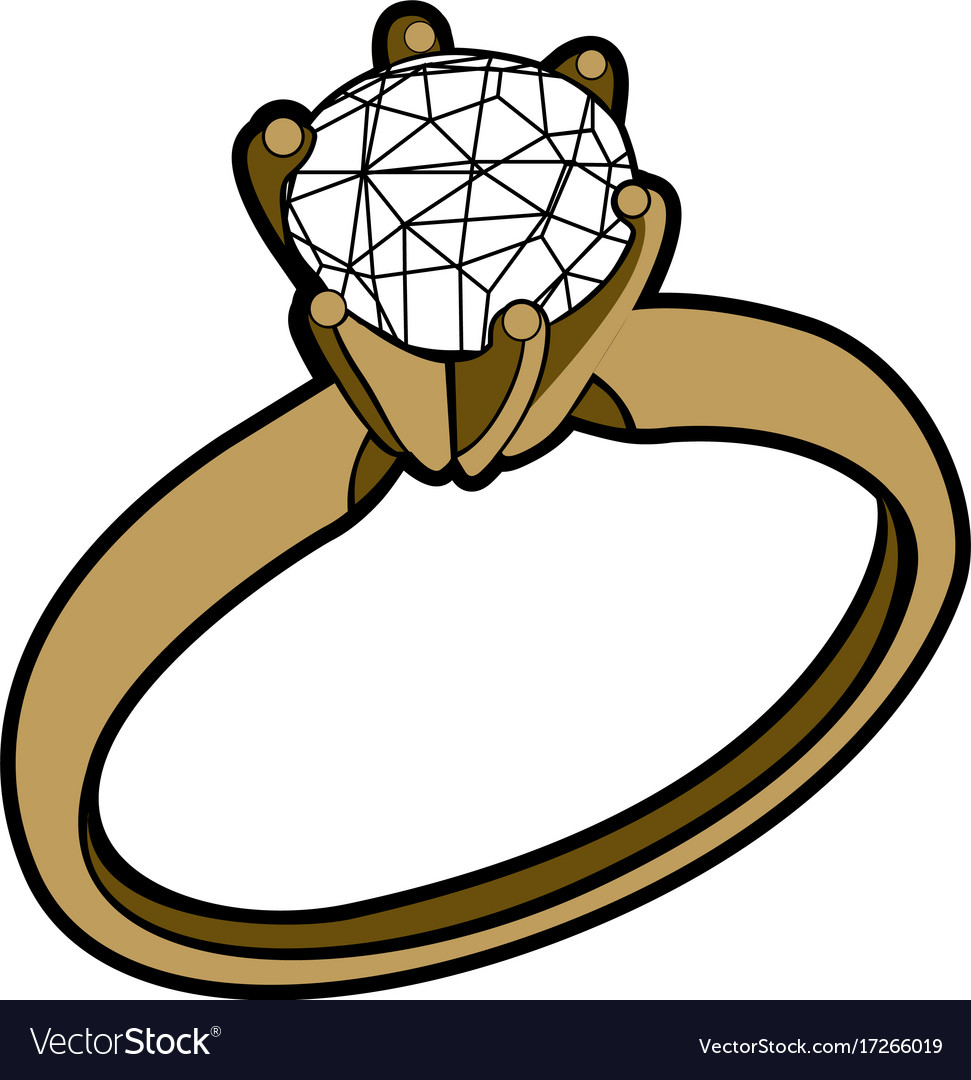 Isolated golden ring Royalty Free Vector Image