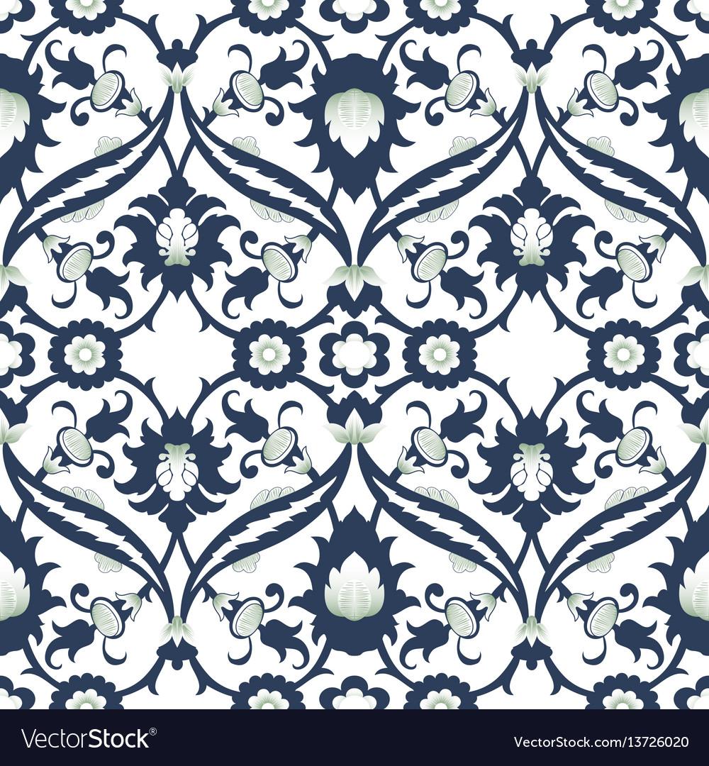 Arabesque damask vintage decor ornate seamless vector image