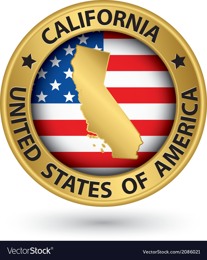 California state gold label with state map vector image california state gold label with state map vector image buycottarizona
