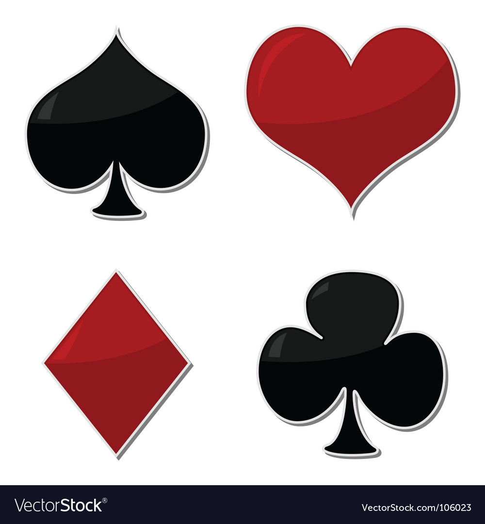 Playing cards symbols vector image