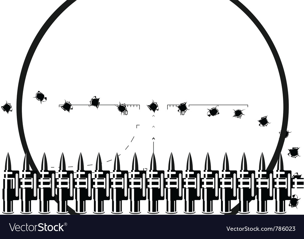 Machine-gun belt vector image