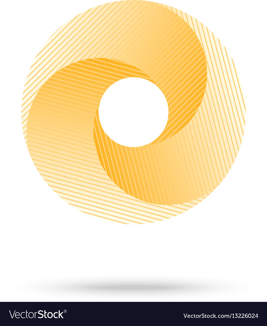Abstract shape yellow 3d torus eps10 vector image