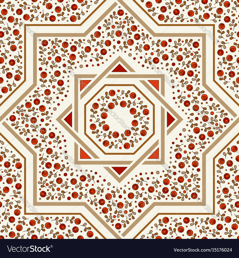 Patterned floor tile moroccan pattern royalty free vector patterned floor tile moroccan pattern vector image dailygadgetfo Images