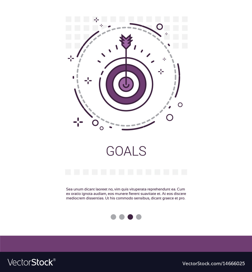 Archery goal business target banner with copy vector image