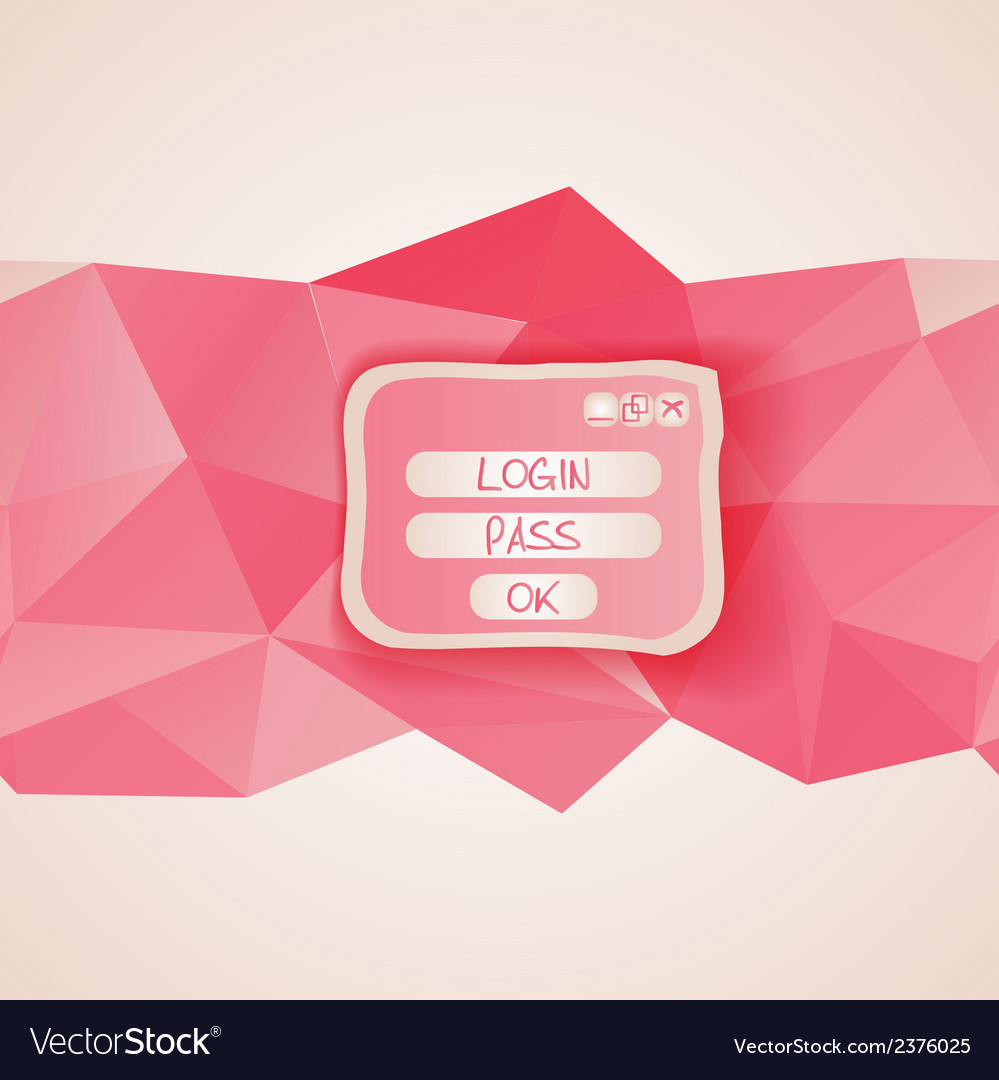 Web interface with button menu template vector image